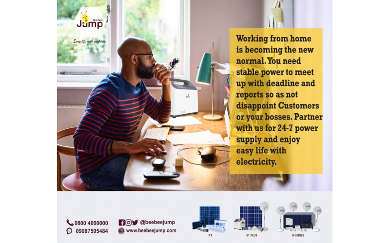 Beebeejump Solar power revolutionalizing Remote jobs in Nigeria